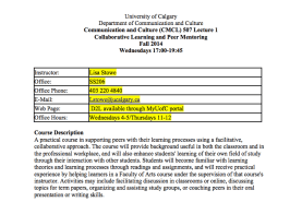Syllabus Calagry University